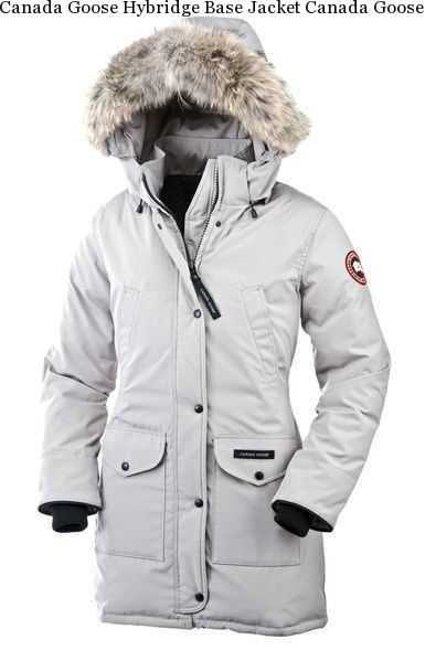 2790656a80a1 Canada Goose Hybridge Base Jacket Canada Goose Trillium Parka Light Grey  For Women