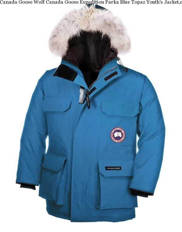 e1d7fba9dfc Canada Goose Wolf Canada Goose Expedition Parka Blue Topaz Youth's Jacket,canada  Goose Expedition Parka