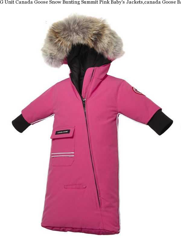 8f2b7c2e7504 G Unit Canada Goose Snow Bunting Summit Pink Baby  s Jackets