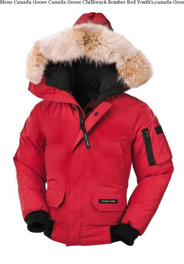 4028aa874aec Mens Canada Goose Canada Goose Chilliwack Bomber Red Youth  s